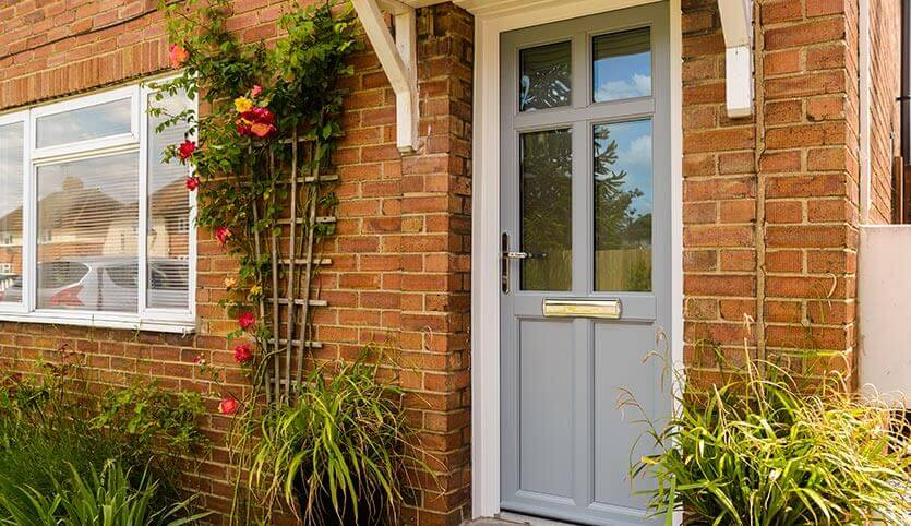 Grey uPVC front entrance door
