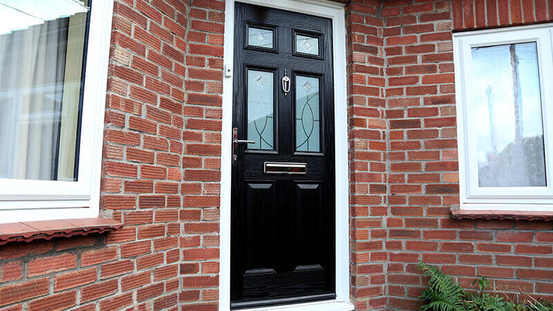 Black composite front door