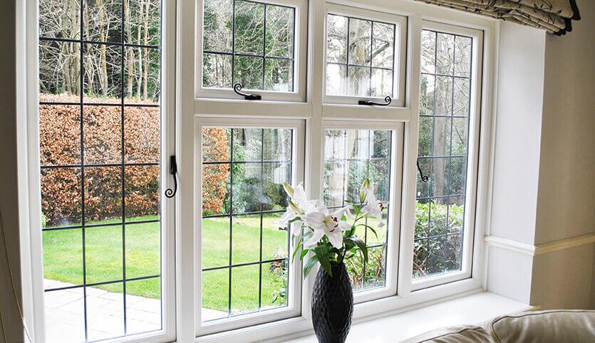 White uPVC window interior view