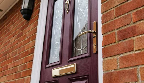 Replacement composite door installation