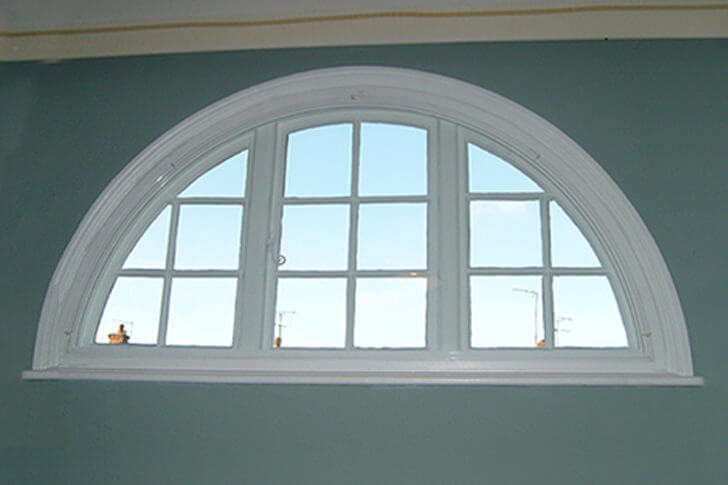 Bespoke uPVC window interior view