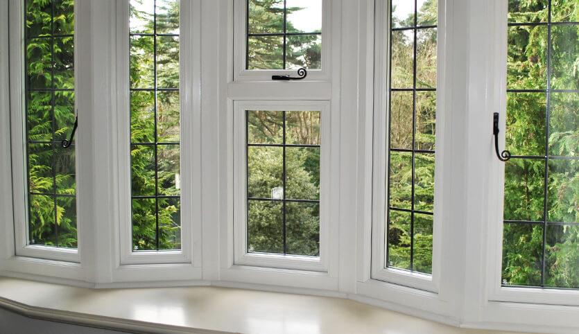 uPVC bay window with double glazing