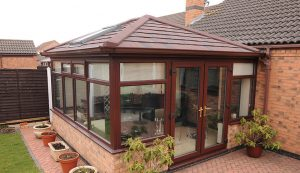 Edwardian conservatory with a tiled roof