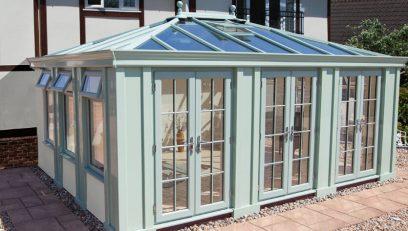 Green Loggia conservatory installation