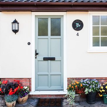 Front door in a classic style.