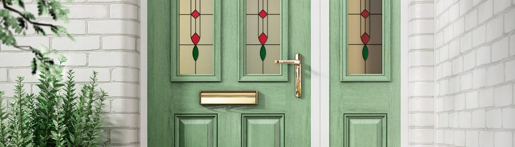 Chartwell green composite door close up