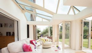 Cream T-Shaped conservatory interior view