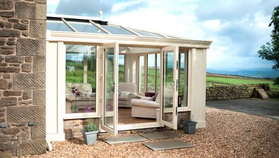 Cream Loggia conservatory installation