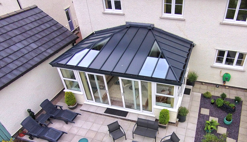 Solid Roof Conservatory - Fineline | Double glazing ...