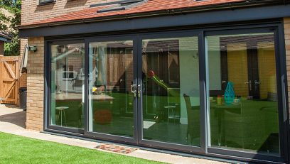 Black uPVC sliding door