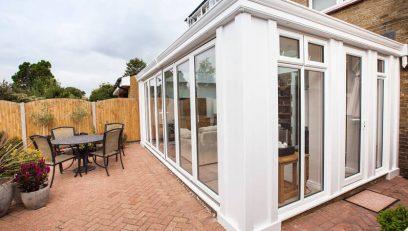 White aluminium Loggia conservatory