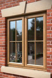 Irish oak upvc window in casement style