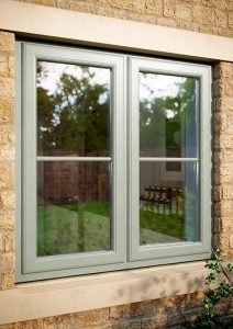 uPVC casement window with Chartwell Green colour finish