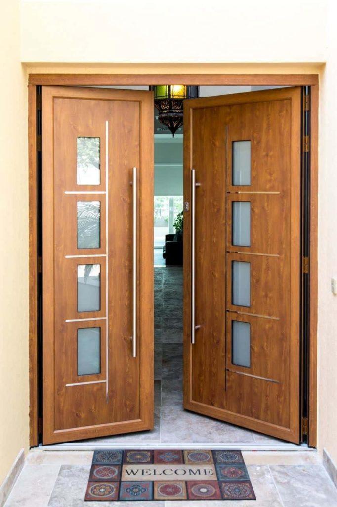Origin oak effect front door.