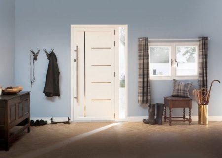Cream modern composite door.