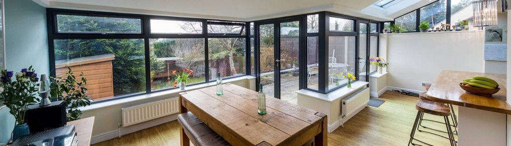 Fresh homely conservatory living space