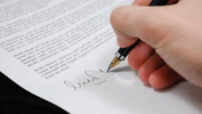 Order deposit signature