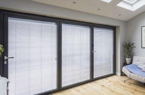 Large 3 panel patio doors.