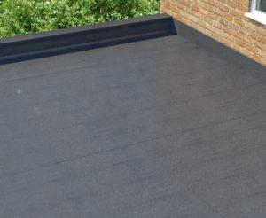 Flat roof.
